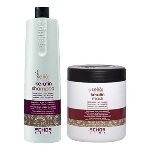 Kit Seliar Keratin Post-Treatment - Shampoo 1000 ml + Maschera 1000 ml - Echosline