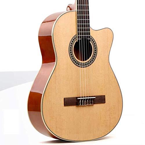 Guitarra eléctrica Guitarra acústica tamaño normal de 39 pulgadas Dreadnought Cutaway clásico...