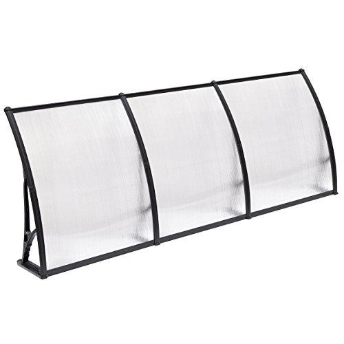 Popamazing Top Qualität Einzelbett/Doppelbett/Triple Polycarbonat Front Rückseite Tür Fenster Sonnensegel Terrasse Cover Himmel