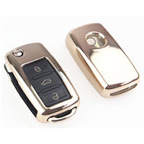 Funda de plástico suave para llave de coche, accesorios universales para Volkswagen, VW, Skoda (col