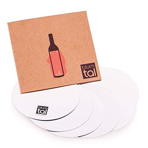 Blumtal Blumtal Antigoteo Vino Discos - Vertedor de Vino - Boquillas antigoteo Accesorios para Vino(1 Set) 6 Láminas Antigoteo