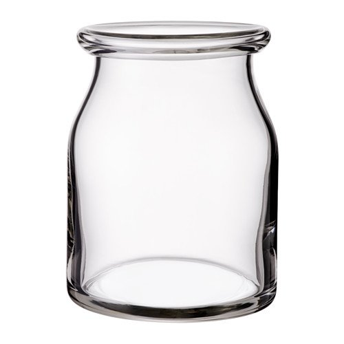 IKEA BEGÄRLIG Vase aus Klarglas; mundgeblasen; (18cm)