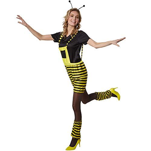dressforfun 900563 Damenkostüm Fleißiges Bienchen, Bienenkostüm in Schwarz und Gelb (XXL| Nr. 302709)