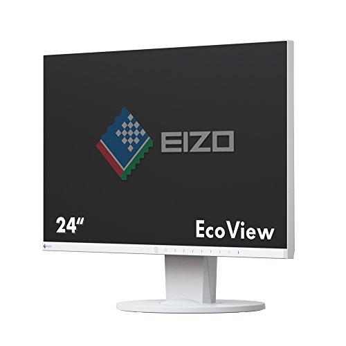 EIZO FlexScan EV2450-WT 60,4 cm (23,8 Zoll) Ultra-Slim Monitor (DVI-D, HDMI, D-Sub, USB 3.1 Hub, DisplayPort, 5 ms Reaktionszeit, Auflösung 1920 x 1080) weiß