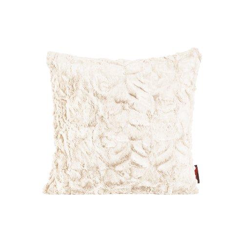 Fluffy Kissenhülle 40 x 40 cm kuschelweicher Plüsch in Felloptik (02 Weiß) 1 Stück