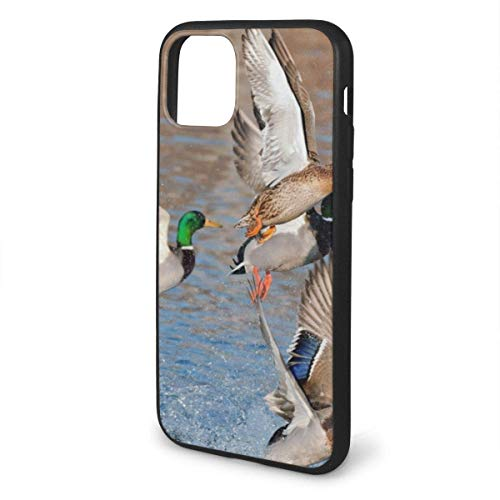 Teléfono de la UE 11/11 Pro/11 Pro max Compatible Pro Aves Acuáticas Pato Caza Mallard a prueba de Golpes Serie Pc+ TPU Bumper Cubierta protectora para teléfono