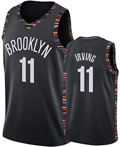 ZOZ Hombre Jersey Kyrie Irving Nets Brooklyn 11 Uniforme de Baloncesto Malla Jersey Camiseta de Baloncesto Talla S-XL (Negro1, L)