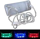 Loggyland Kinderschaukel Brettschaukel stabil Schaukelsitz aus Kunststoff für Spielturm mit LED...