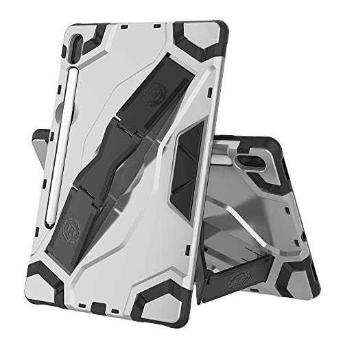 MDYHMC YXCY AYYD For Samsung-Galaxy Tab A 8.0 & S Pen (2019) P200/P205 Escort Series TPU + PC Shockproof Protective Case with Holder (Color : Silver)
