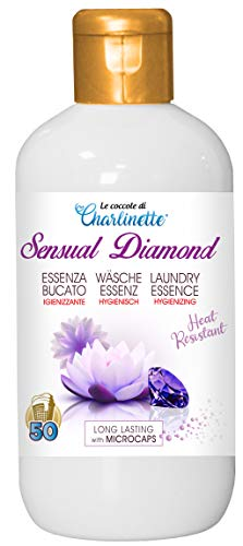 Charlinette Perfumador Ropa Lavadora higienizante Ultra Concentrado de larga duración con microcápsulas Esencia de lavandería Perfumes Lavadora con Aceite Esencial de flor de loto 50 Lavados