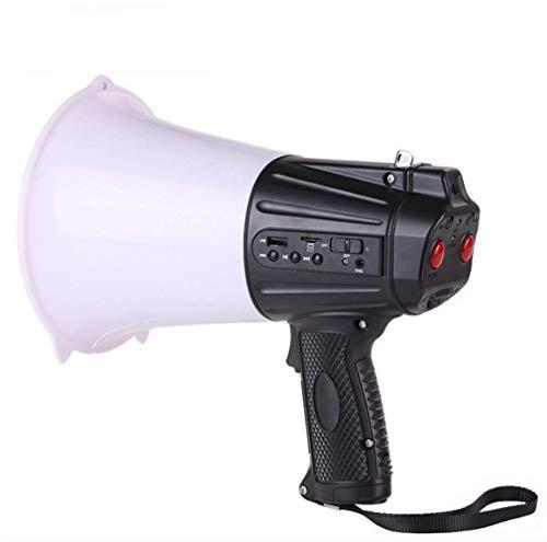 Altavoz de mano megáfono iluminación exterior Rescate Seguridad grito megáfono grabación de voz Cuerno 20 segundos de grabación megáfono Juega Abs anti-lucha libre Seguridad Material antideslizante YC