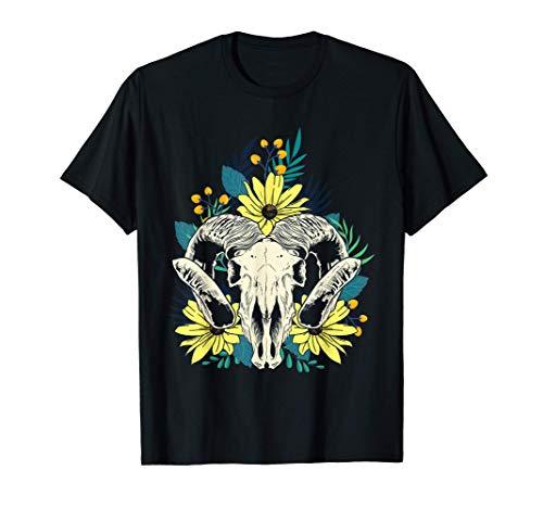 美的ひまわりの花束 グリムラム スカルフラワー 恋人ギフト Tシャツ