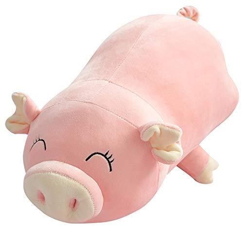 KXCAQ 45-85 cm de Dibujos Animados Cerdo Rosa de Peluche de Juguete Lindo Cerdito de Peluche Animal muñeca de Peluche Linda Almohada Regalo niño Regalo de cumpleaños de Navidad 45 CM Parpadeo