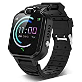 Kids Smartwatch for Boys Girls – Smart Watch for Kids with Phone Calls 7 Games Mp3 Music Player Camera SOS Phone Watch for 4-12 Years Old Students Children Christmas Birthday Gift (Black)