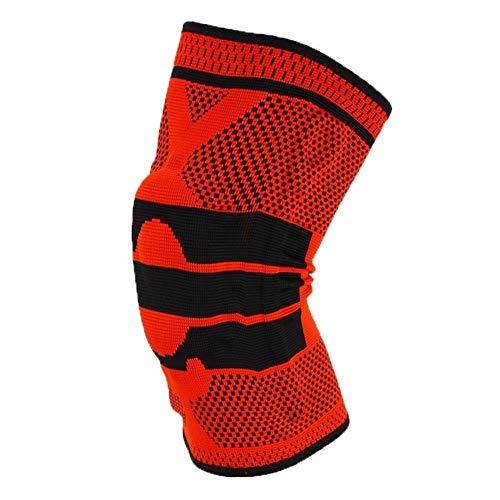 XPOXx Hochwertige Sport-Knie-Pads for Männer und Frauen, 3D-Silikon Frühling gestrickte Geflochtene Compression-Knie-Stützkissen, verwendet for Radsports Skating Fitness Training oder Arbeit