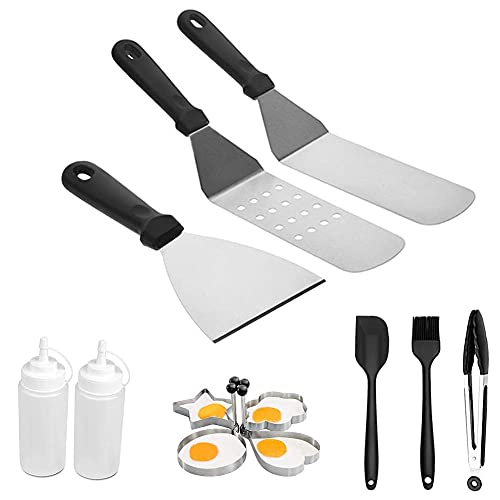 41IFvrsPy0S. SL500  - Spatel-Set Grillzubehör BBQ Tool Kit - Hochleistungs-Edelstahl-Spatel-Grill-Set in professioneller Qualität - ideal zum Kochen von Camping und Heckklappen
