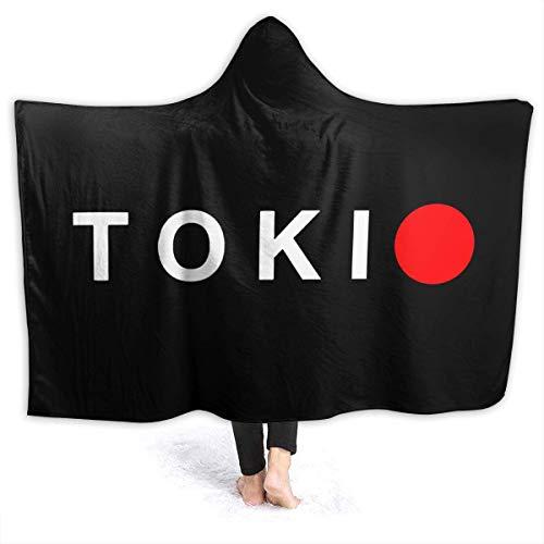 KENDIA Japan Flagge Tokio Kapuze Flanell Decke werfen Luxus Flanell Samt Plüsch Decke werfen (50 * 40 Zoll)