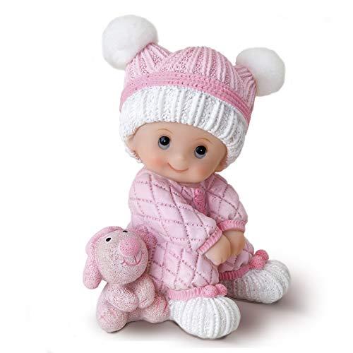 Mopec Figurine Pastel bébé Assis Rose 10 cm