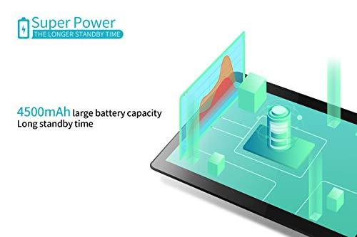 Haehne 10.1 Zoll Tablet PC, 3G Phablet, Google Android 8.1, Quad Core 2GB RAM 32GB ROM, Zwei Kameras, 1280 x 800 HD Bildschirm, 4500mAh, Bluetooth, WiFi, Schwarz