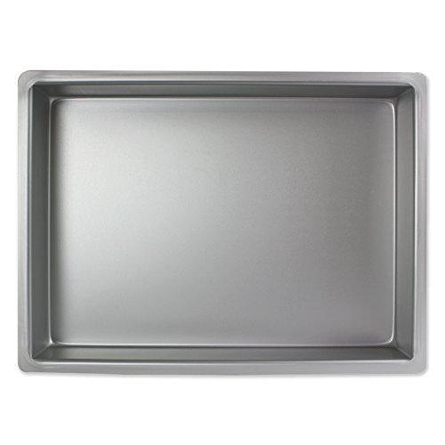 PME Oblongo Molde para Pastel de Aluminio, Plateado, 10 x 15 x 2 Pulgadas