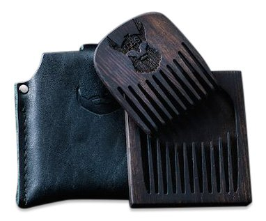 The Beard Struggle - Model S Wooden Beard Comb