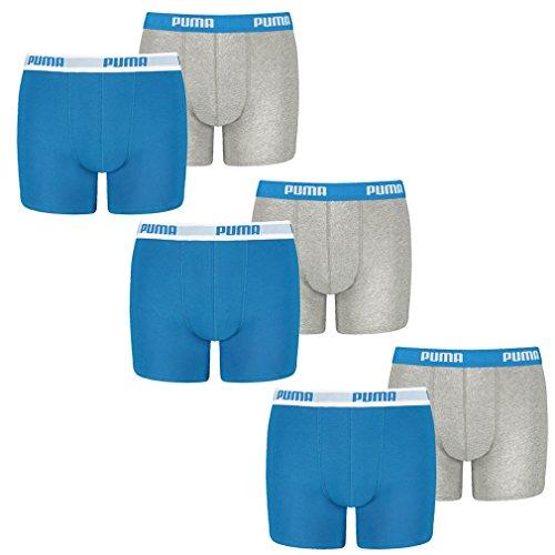 Puma Kinder Basic Boxer Short - 3x2 Shorts (6er Pack) - blue / grey (417) - 152