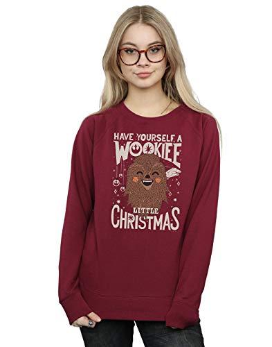 Star Wars Damen Wookiee Little Christmas Sweatshirt Burgund Small