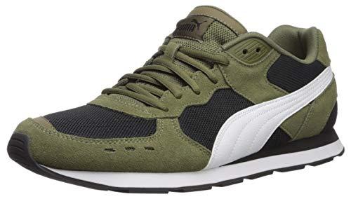 PUMA Vista Sneaker, Burnt Olive White Black, 5 M US