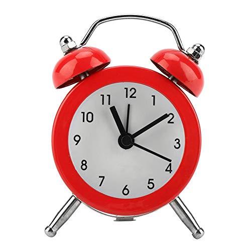 FTVOGUE Reloj Despertador de Campana de 7.62 cm, portátil, Moderno, Reloj Digital de Metal con batería, para el hogar y Estudiantes, 03, 1