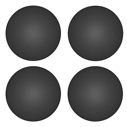 MOSISO 4 Pezzi Piedino di Sostituisci in Silicone Compatibile con Bottom Custodia Pad per MacBook (MacBook PRO/MacBook Air), Nero