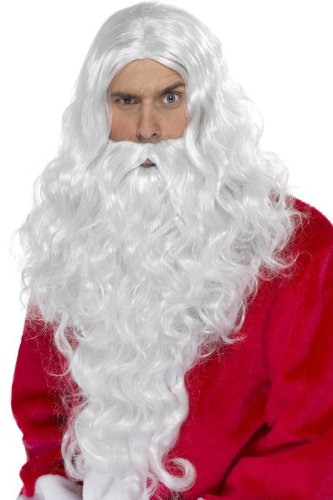 DC Perruque + Barbe de Pere Noel Adulte - Deguisement - Argente - 179