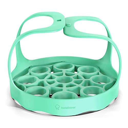 Silicone Bakeware Sling Compatible With Instant Pot, Ninja Foodi Pressure Cookers - Reusable Silicon Trivet Rack Lifter With Handles Holds Pot, Pan Accessories - Fits 5-Quart 6-Qt 8-Qt