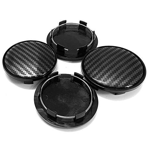 RelaxToday 4 Uds 3D patrón de Fibra de Carbono 69MM Tapa de Cubo de Rueda de Coche Tapa dellanta de Rueda, para Audi A3 A4 A5 A6 A7 A8 Q5 R8 S4 S5 S6 TT