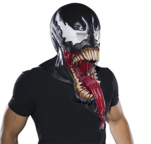 Rubie's Marvel Men's Universe Deluxe Venom Latex Mask, Black, One Size