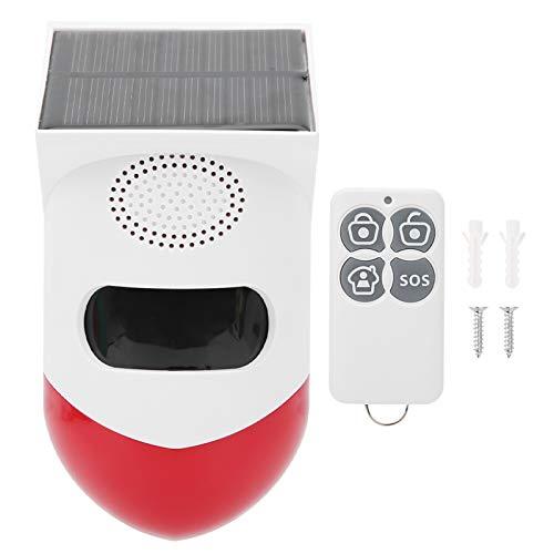 Asixxsix Alarma infrarroja Solar, Control Remoto ABS IP67 Alarma antirrobo Impermeable antirrobo para el hogar, Inalámbrico para la Tienda del hogar