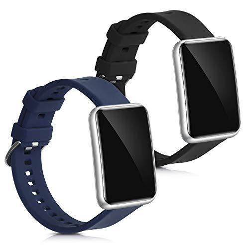 kwmobile Armband kompatibel mit Huawei Watch Fit - 2X Silikon Fitnesstracker Sportarmband