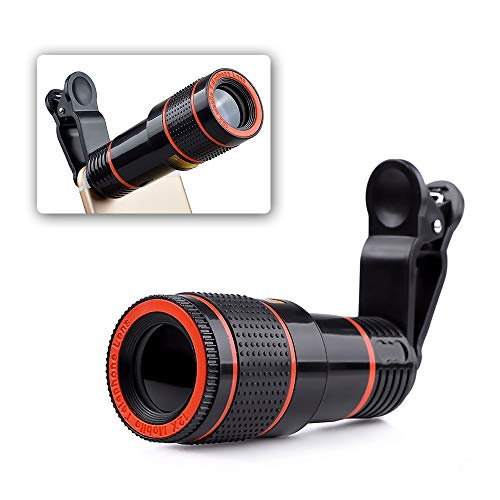 Loijon Câmera do telefone lente hd universal clip-on 12x zoom lente do telescópio celular compatível com iPhone acessórios do telefone telescópio externo
