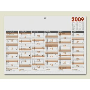 BRUNNEN 1070140 Tisch-/Tafelkalender A 4 Modell 701 40 (1 Seite = 6 Monate, kräftiger Karton, Kalendarium 2020)