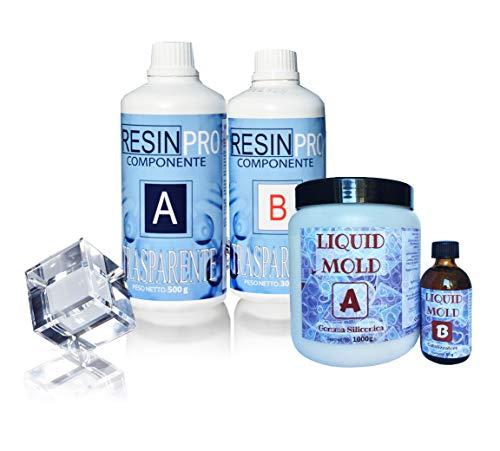 Resina EPOXY TRANSPARENTE – GR 800 + goma de silicona líquida GR 500