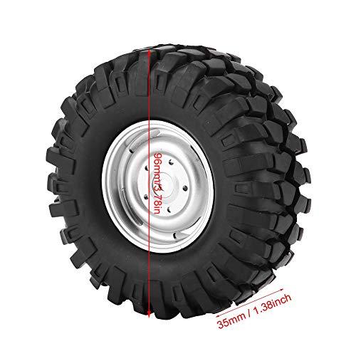 minifinker Neumático de Rueda RC Neumáticos RC de 4 Piezas para HSP/Redcat /
