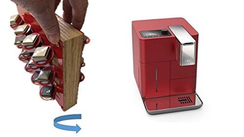 Passend für Qbo You-Rista - Kaffeekapselmaschine für 24 Kapsel immer griffbereit neben der Maschine Ihre Lieblingssorte drehbare Version Farbe rot