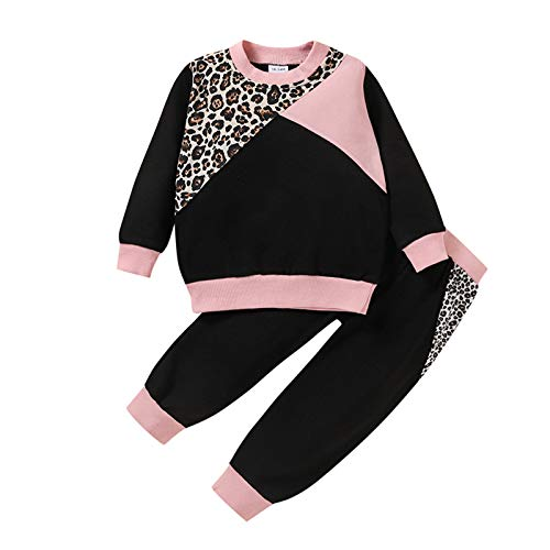 Sudadera de manga larga con estampado de leopardo, para bebés y niñas