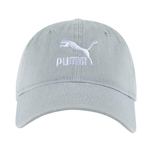 PUMA Archive Adjustable Strap Dad Baseball Cap Hat (Light Grey)