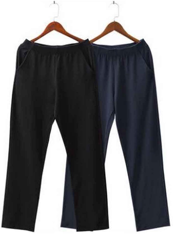 Set of 2 Cotton Men's Sweatpants Men's Pajamas Men's Sweats [D]