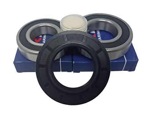 Juego de rodamientos de bolas 6207 RS 6305 RS, junta de eje, 42,4 x 72 x 10/12, lavadora Bosch logixx 8, 1600 rpm, Siemens WM, 8 kg, 1600 rpm