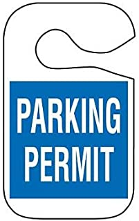 Red Brady 69718 15 Packs of 5 pcs Employee Parking Un-Numbered,