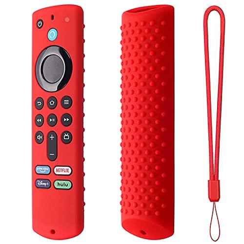 zebroau Alexa Hülle/Hülle für Sprachfernbedienung (3. Generation), Silikonhülle für Fire TV-Stick Fernbedienung, geringes Gewicht, rutschfest, stoßfest mit Anti-Loss Strap (2021 Release)