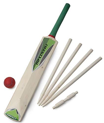 Toyland Junior Holz Cricket Set In Mesh Tragetasche - Größe 5 - Kinderspielzeug für draußen