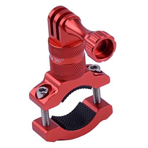 Actie Camera Bike Mount, Aluminium Bike Stuur Mount Houder Roterende Fietsenrek Roll Bar Mount Adapter Fit voor GoPro Camera Rood