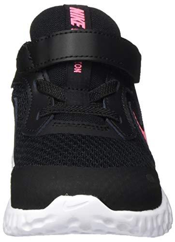 Nike Revolution 5 (Tdv), Unisex Kid's Running Shoe, BLACK/SUNSET PULSE, 4.5 Child UK (21 EU)
